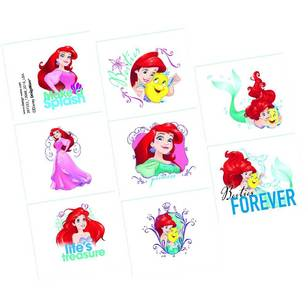 Amscan Disney Dream Big Ariel Tattoo Favours 8 Pack