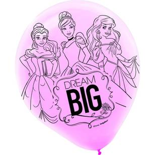 Disney Princess Latex Balloons 6 Pack