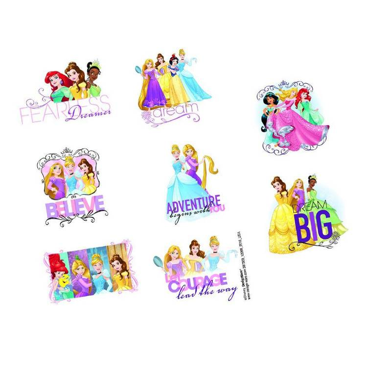 Disney Princess Tattoo Favours 8 Pack