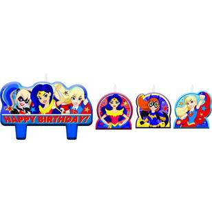Amscan Super Hero Girls Birthday Candle Set 4 Pack