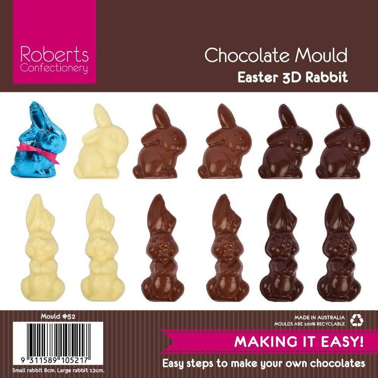 Roberts Confectionery Easter #52 Small Bunny Chocolate Mould