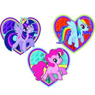 My Little Pony Friendship Honeycomb Decorations 3 Pack