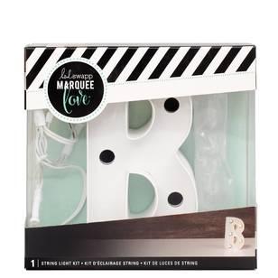 Heidi Swapp Marquee 4 Inch Letter B String Light Kit