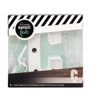 Heidi Swapp Marquee 4 Inch Letter C String Light Kit