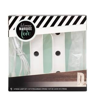 Heidi Swapp Marquee 4 Inch Letter D String Light Kit