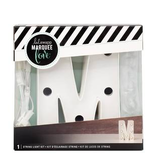 Heidi Swapp Marquee 4 Inch Letter M String Light Kit