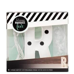 Heidi Swapp Marquee 4 Inch Letter R String Light Kit