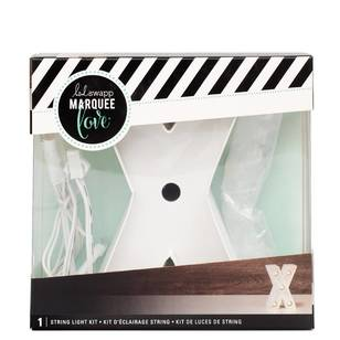 Heidi Swapp Marquee 4 Inch Letter X String Light Kit