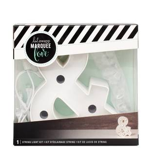 Heidi Swapp Marquee 4 Inch Ampersand & String Light Kit