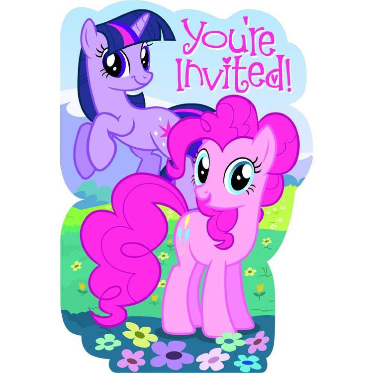 My Little Pony Friendship Postcard Invitations 8 Pack