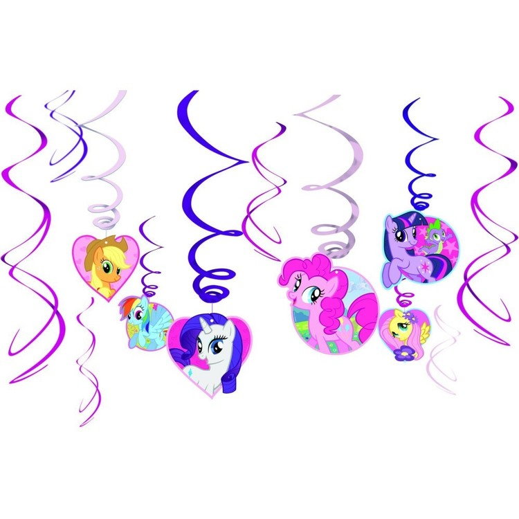 My Little Pony Friendship Swirls 12 Pack Pink