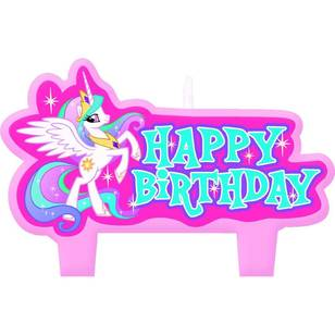 My Little Pony Friendship Birthday Candle Set 4 Pack