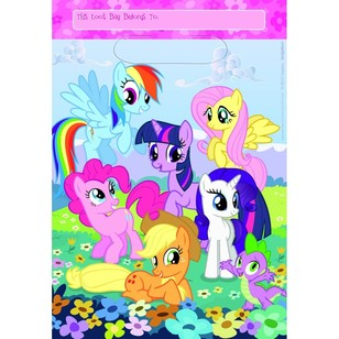 My Little Pony Friendship Folded Loot Bags 8 Pack