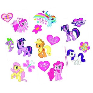 My Little Pony Friendship Tattoo Favors 8 Pack