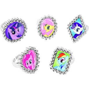 My Little Pony Friendship Jewel Ring Favors 18 Pack