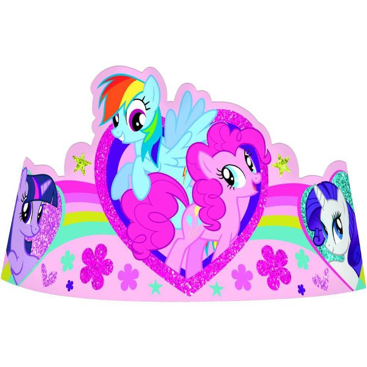 My Little Pony Friendship Paper Tiaras 8 Pack