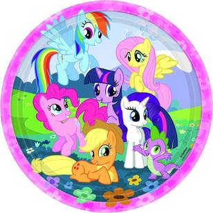"My Little Pony Friendship 9"" Round Plates 8 Pack"