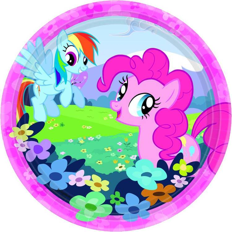 "My Little Pony Friendship 7"" Round Plates 8 Pack"