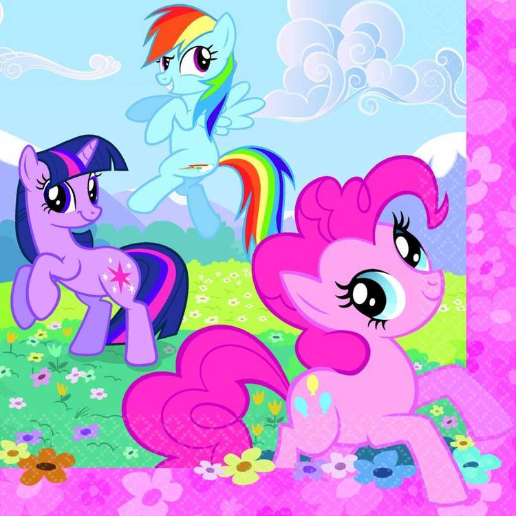 My Little Pony Friendship Lunch Napkins 16 Pack Pink