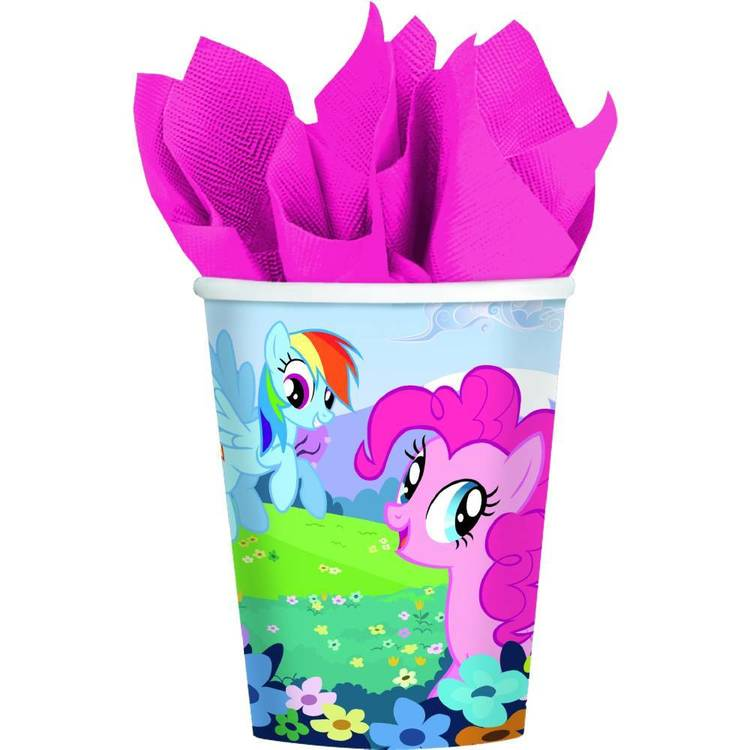 My Little Pony Friendship Cups 8 Pack Pink 9 oz