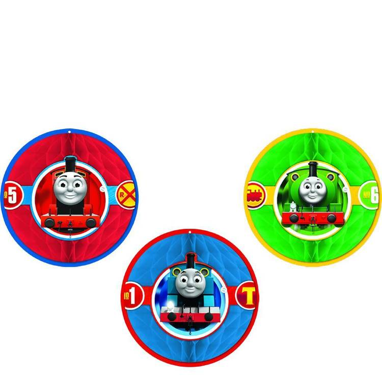 All Aboard Thomas Honeycomb Decorations 3 Pack