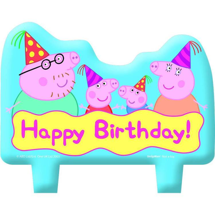 Peppa Pig Birthday Candle Set 4 Pack