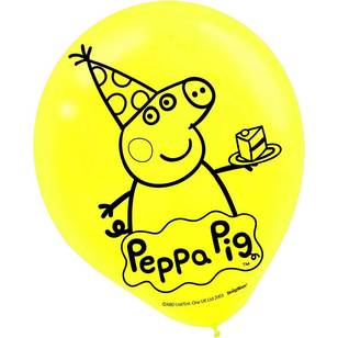 Peppa Pig Latex Balloons 6 Pack