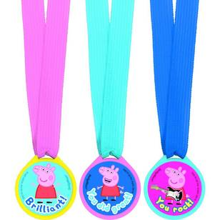Peppa Pig Mini Award Medal Favours 12 Pack