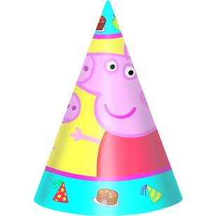 Peppa Pig Paper Cone Hats 8 Pack