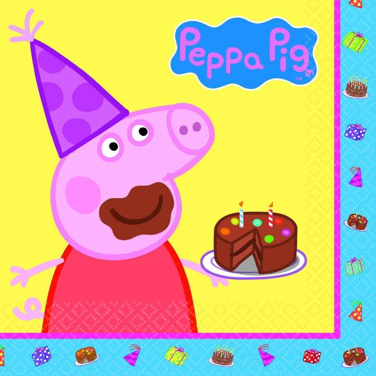 Peppa Pig Lunch Napkins 16 Pack