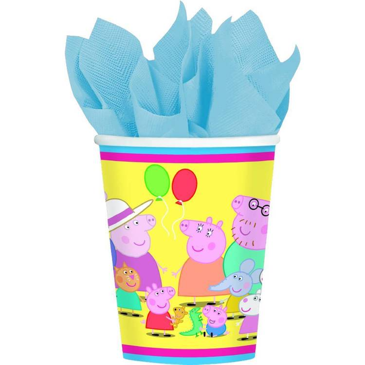 Peppa Pig Cups 8 Pack