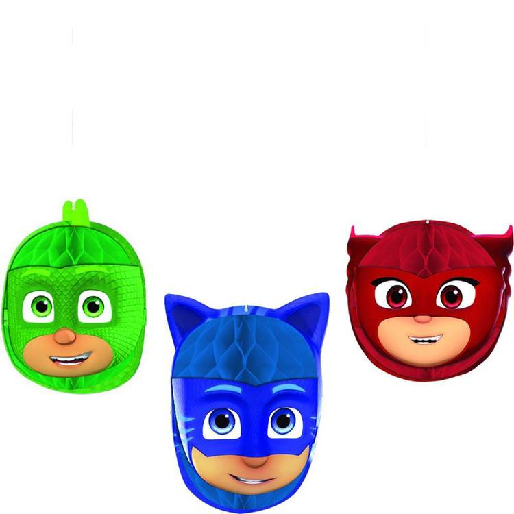 PJ Masks Honeycomb Decorations 3 Pack