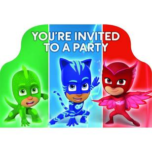 PJ Masks Postcard Invitations 8 Pack