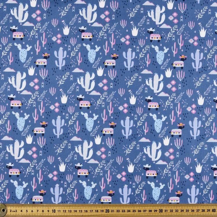 Kat Kalindi El Ranchos Donkies Printed Poplin Fabric