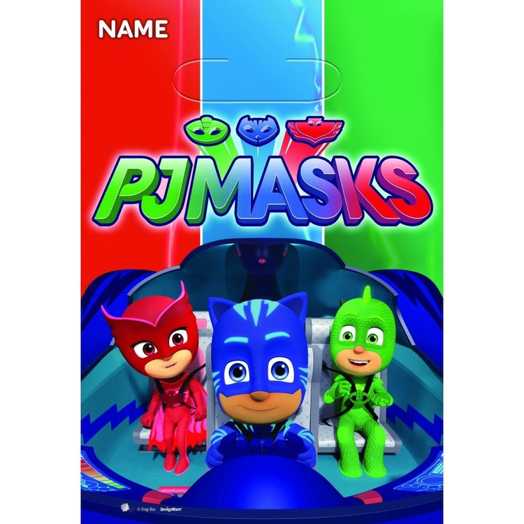 PJ Masks Folded Loot Bag 8 Pack