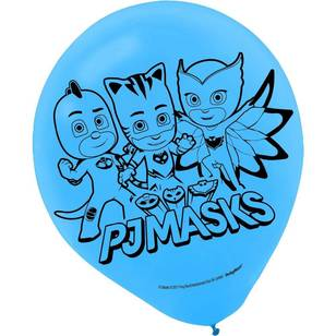 PJ Masks Latex Balloons 6 Pack