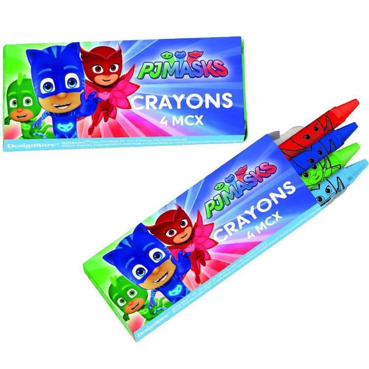 PJ Masks Crayon Favours 12 Pack