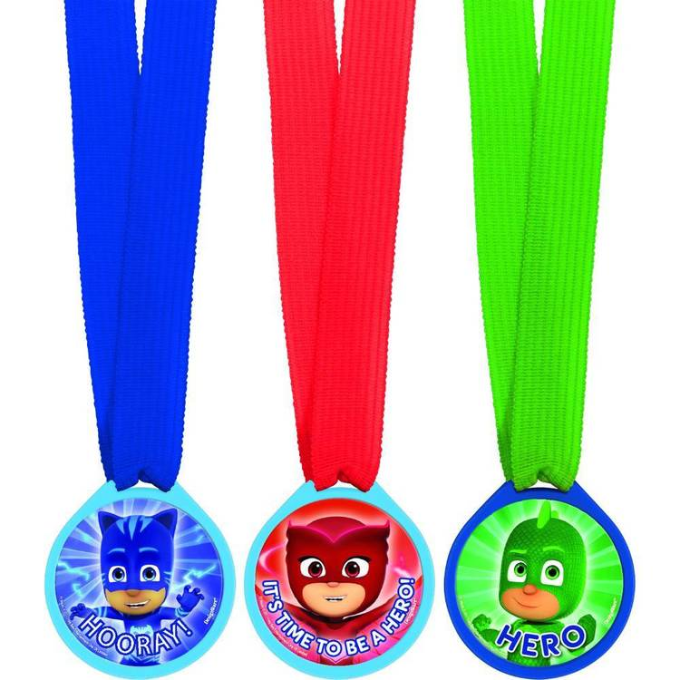 PJ Masks Mini Award Medal favours 12 Pack