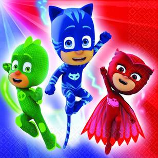 PJ Masks Lunch Napkins 16 Pack