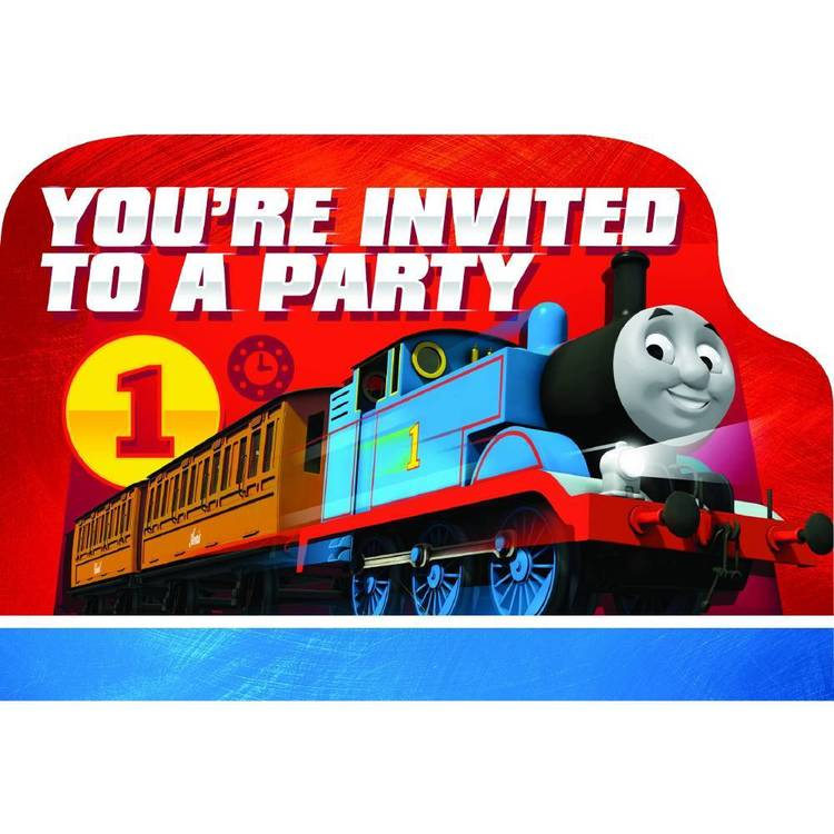 All Aboard Thomas Postcard Invitations 8 Pack
