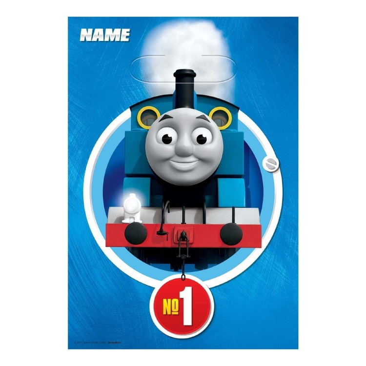 All Aboard Thomas Folded Loot Bags 8 Pack