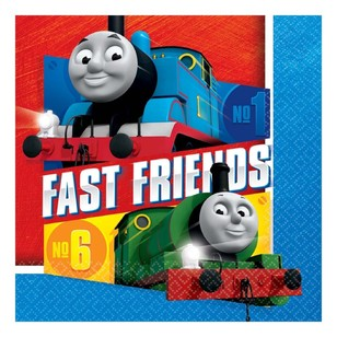 All Aboard Thomas Lunch Napkins 16 Pack