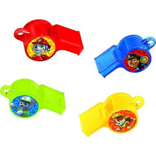 Paw Patrol Whistle Favours 12 Pack