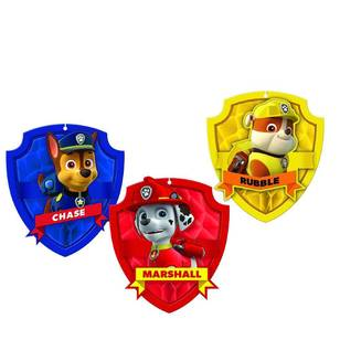 Paw Patrol Honeycomb Decorations 3 Pack