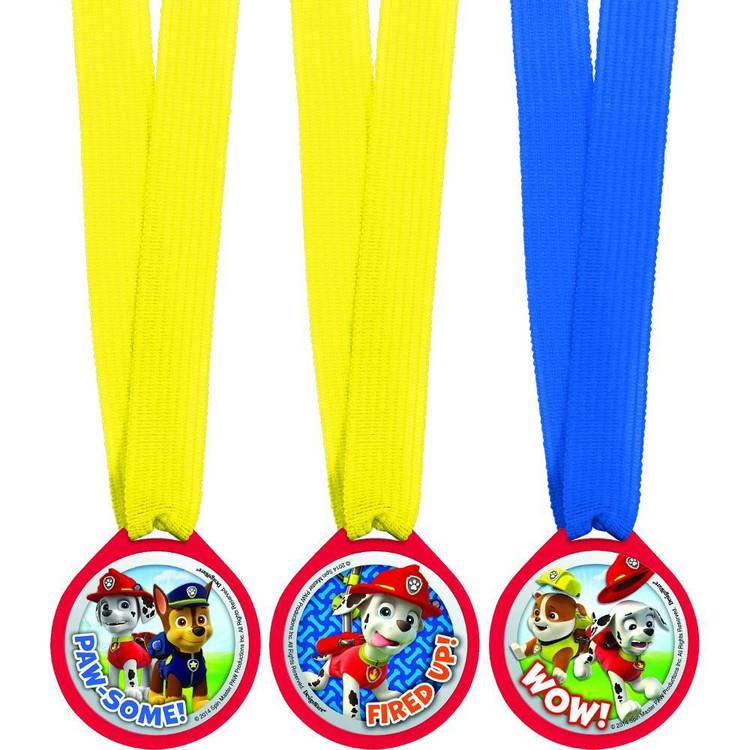 Paw Patrol Mini Award Medal Favours 12 Pack