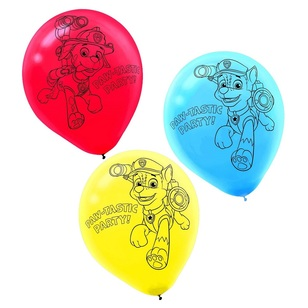 Paw Patrol Latex Balloons 6 Pack