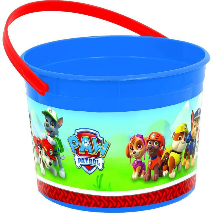 Paw Patrol Favour Container Red, Green, Yellow & Blue