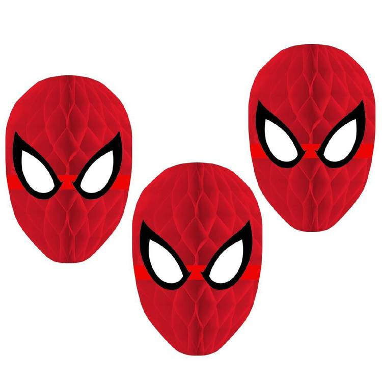 Spiderman Webbed Wonder Spider-Man Webbed Wonder Honeycomb Decorations 3 Pack