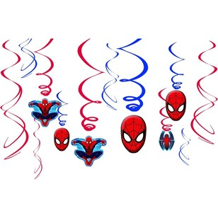 Amscan Ultimate Spider-Man Swirl Value Pack 12 Pack