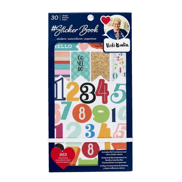 American Crafts Vicki Boutin 30 Sheet Sticker Book